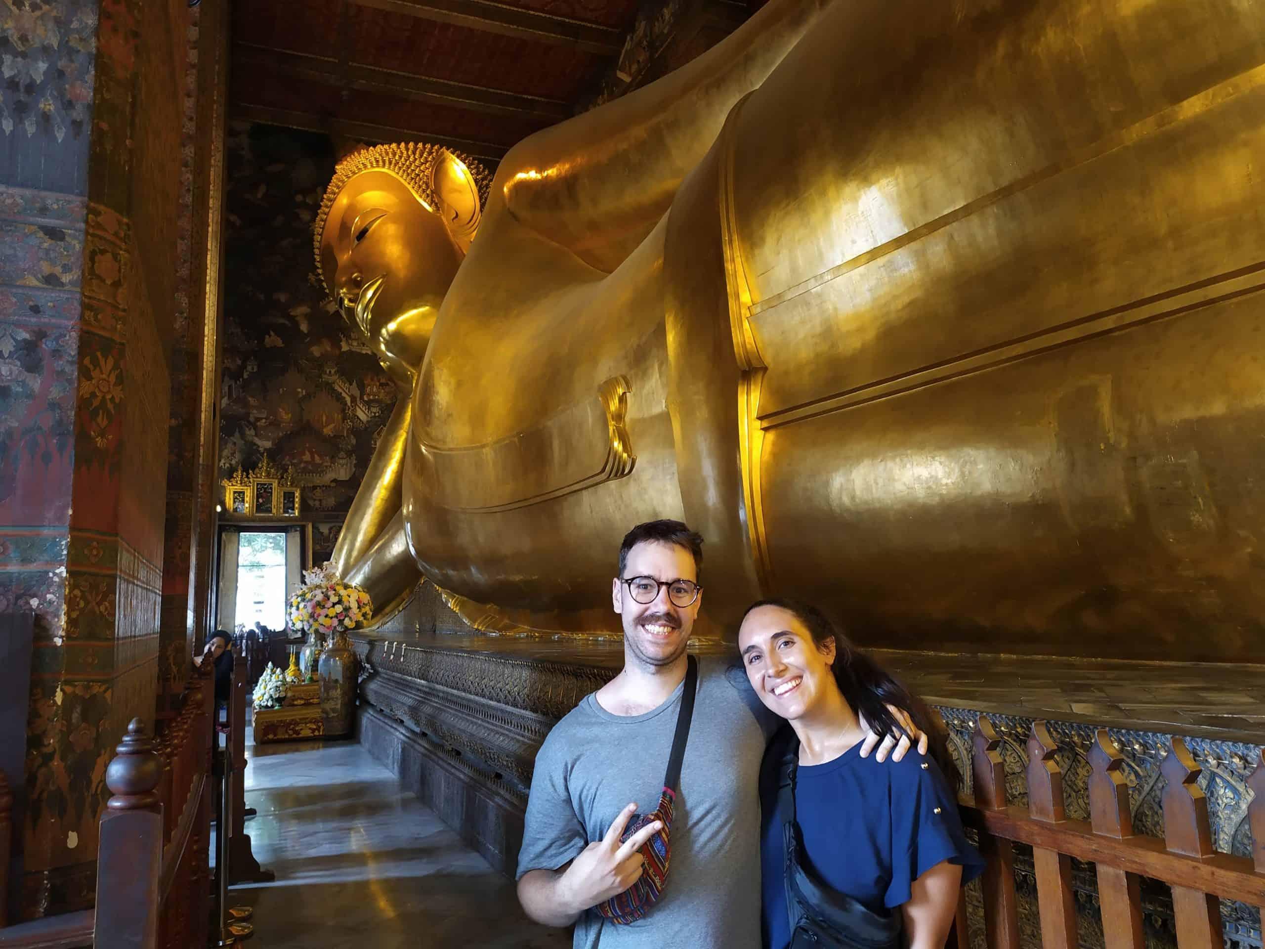 templo del buda reclinado wat pho que ver en Tailandia