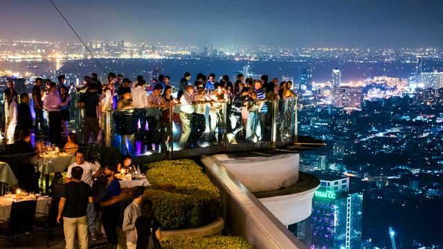 fiesta azotea sky bar en tailandia bangkok