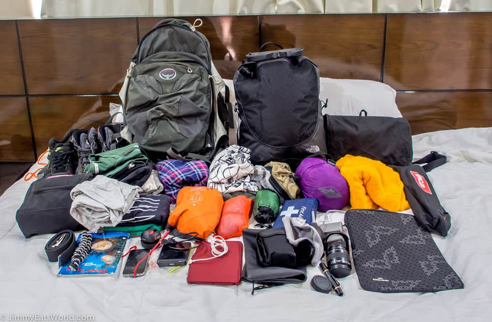 como hacer la mochila para viajar