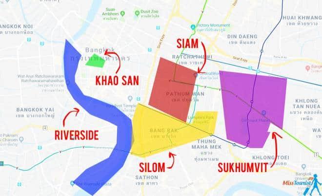 que zona es mejor para dormir en bangkok