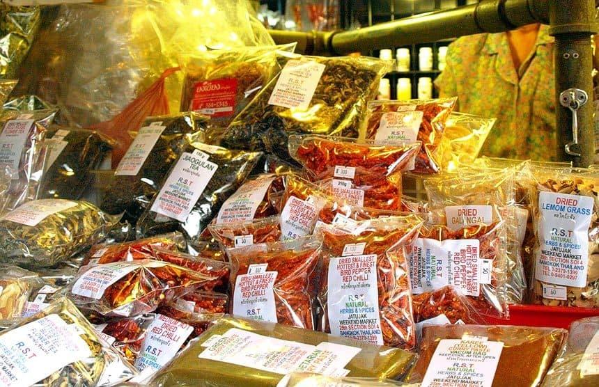especias tailandesas comprar en mercado tailandes para regalo mejor
