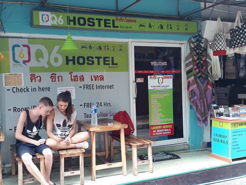 hostel pension barato en bangkok tailandia