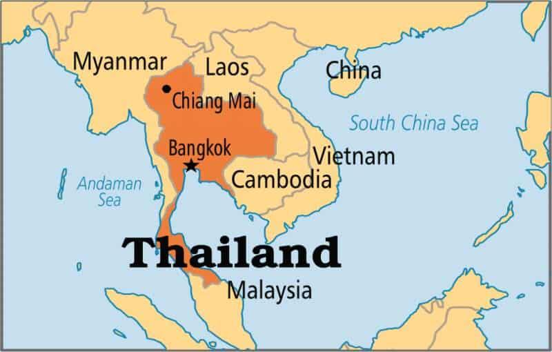 Mapa principal de Tailandia. Donde está tailandia